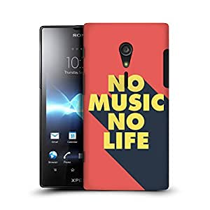 MobileGlaze Designs Poster Typography NO LIFE Hard Back Case Cover for SONY XPERIA ION LT28