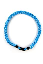 """MapofBeauty 18"""" Sport Style Single Color/ Two Colors/ Three Colors Fashion Three Braided Rope Tornado Necklace"""