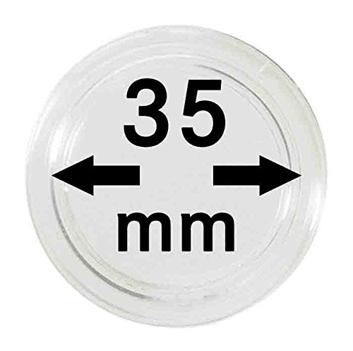 Coin capsules 35 mm (10 Pieces) (Lindner 2250035) - Inner diameter: 35 mm (2250035)