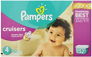 Pampers Cruisers Diapers Size 4 Economy Pack Plus 152 Count