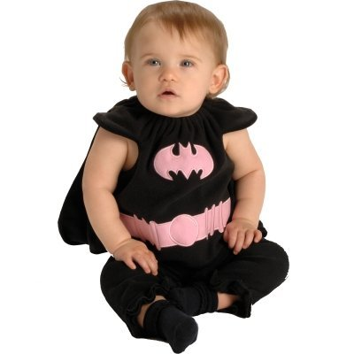 Batgirl Bib Newborn Costume (As Shown;One Size)