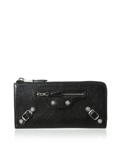 Balenciaga Women's Leather Wallet, Black