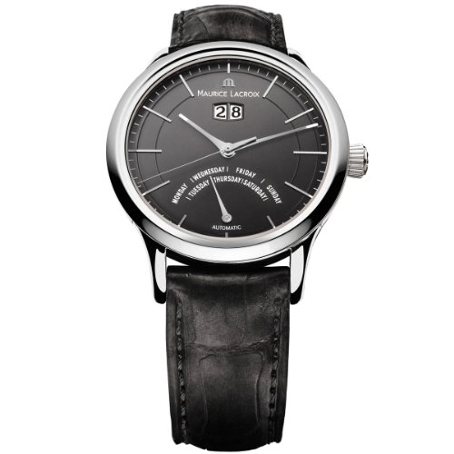 Maurice Lacroix Les Classiques LC6358-SS001-33E - Reloj para hombres, correa de cuero color negro