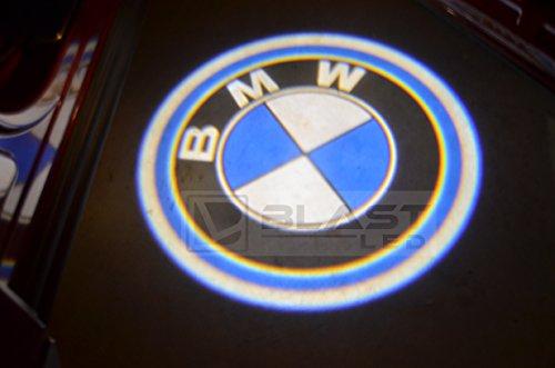 2Pc Bmw Car Door Led Logo Ghost Shadow Projector Laser Courtesy Light