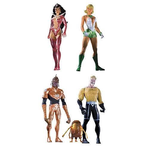 Picture of DC Direct Green Lantern Blackest Night Series 8 Action Figure Set (B002KBRNMU) (Green Lantern Action Figures)