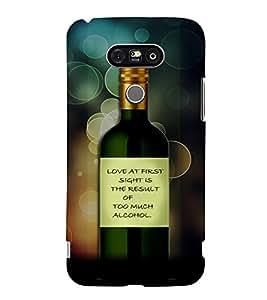 PrintVisa Quotes & Messages Funny Romantic Love 3D Hard Polycarbonate Designer Back Case Cover for LG G5
