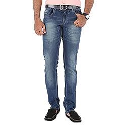 Trigger Men's Slim Jeans (TJ032_Blue_28)