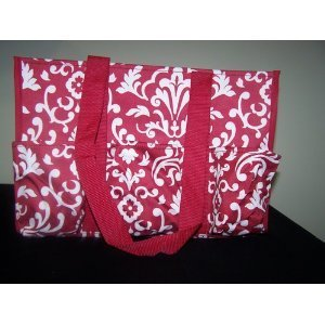 Organizing Utility Tote Red Parisian Pop By Thirty One front-457882