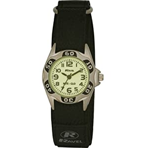 Ravel Kids Velcro Glow in the Dark Watch R1704.3
