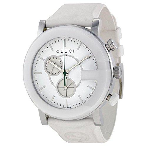Gucci G CHRONO YA101346 - Reloj para mujeres, correa de goma color blanco