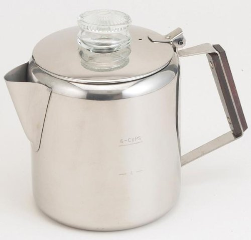 Tops Rapid Brew Stainless Steel Percolator, 2-6 Cup