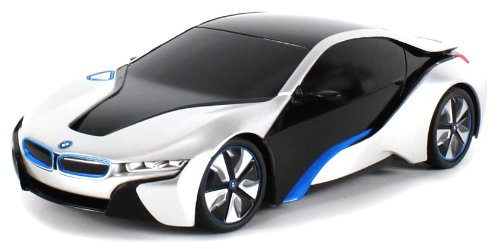 Licensed Bmw I8 Concept Edrive Electric Rc Car 1:24 Scale Rastar Rtr (Colors May Vary) Authentic Body Styling