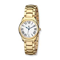 Charles Hubert IP-plated Stainless Steel White Dial Watch