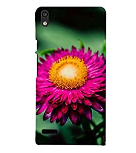 Printvisa Pink Blooming Flower Depicting The Beauty Of Nature 3D Hard Polycarbonate Designer Back Case Cover For Huawei Ascend P6 :: Huawei P6 :: Huawei Ascend P6 Dual