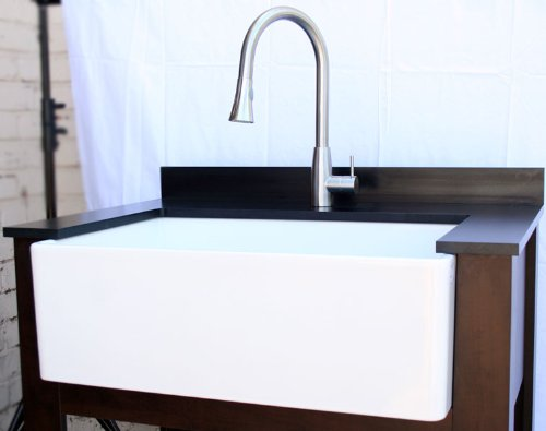 AB510 30-Inch Contemporary Smooth Fireclay Farmhouse Kitchen Sink ...