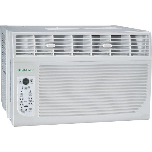 "Hanover HANAW06A Energy Star 6,000 BTU 115-Volt Window-Mounted Air Conditioner with ""Follow Me"" LCD Remote Control"