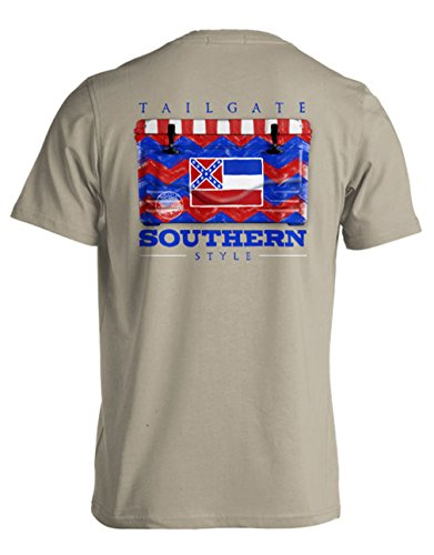 College Tailgate - Mississippi Flag - Chevron Cooler - X-Large - T-Shirt front-561781