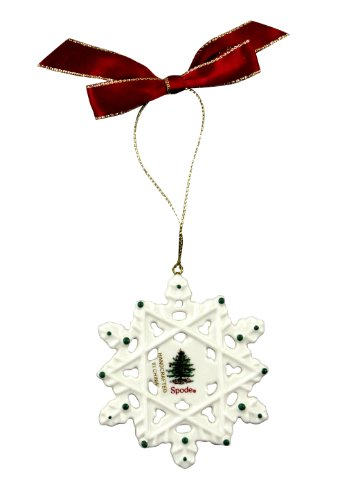 Spode Christmas Tree Snowflake Ornament