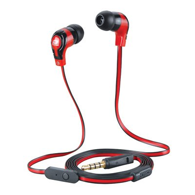Importer520 New Design Tangle Free Handsfree Stereo Earphones Earbuds Earpieces With Microphone For Nokia Lumia 521 520 635 1320 (At & T, Metro Pcs, T-Mobile)- Flat-Rdbk