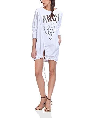 TANTRA Vestido Print With Pockets Blanco