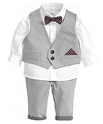 StylesILove Little Boy 4-piece Chic Tuxedo Outfit