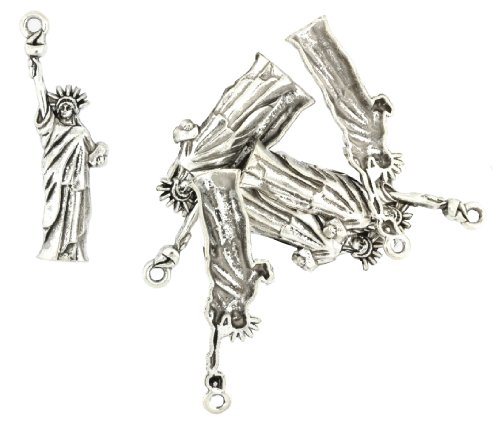 Wholesale Mandala Crafts Vintage Tone Necklace Bracelet Charm Pendants (Statue of Liberty, 5 PCs)