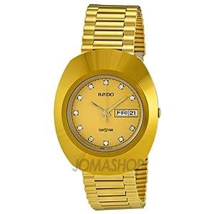 Rado Diastar All Gold Tone Stainless Steel Mens Watch R12393633: Rado