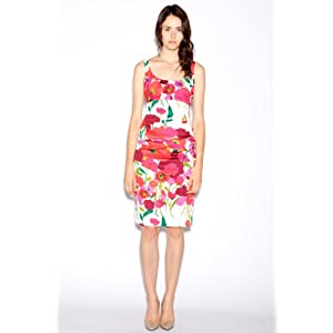 Suzi Chin Women's Sleeveless Starbust Print Dress: Clothing from amazon.com