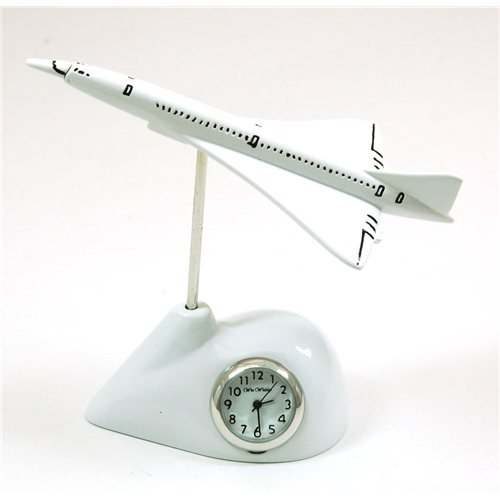Concorde Airplane Novelty Clock BNIB (Code 9672)