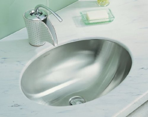 Kohler K-2602-SU-NA Rhythm Elliptical Undercounter Lavatory with Satin Finish