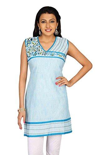 Sanskruti Sanskruti Creations Women's Kurti (Blue)
