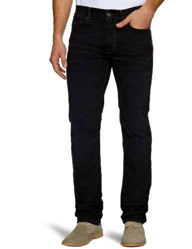 7 For All Mankind SMSM540TJ Slim Men's Jeans The Jet Black W34 INxL33 IN