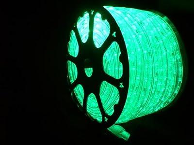 LED ROPE LIGHT, EMERALD GREEN LED ROPE LIGHT KIT FOR 120V, Christmas Lighting, Outdoor Rope Lighting