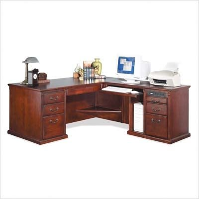 Buy Low Price Comfortable Huntington Club Desk with Right Computer Return (Cherry) (68″W X 29″H X 32″D) (B000XG1W0S)