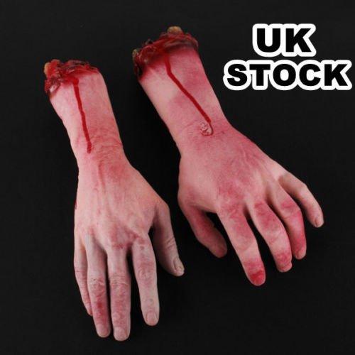 Generic yc-uk2-151124-29< 1& 5480* 1> e pranked Cut Off Severed Cut Off Coppia Braccio Mano Orrore partito di Halloween, Scherzo Prank Coppia Hallow