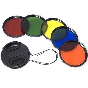 58mm Filtre de couleur Bleu Jaune Orange Rouge Vert + Capsule de lentille + 6 boitiers fente Pour Canon 1DX 5D Mark 5D2 5D3 6D 7D 70D 60D 700D 650D 1100D 1000D 600D 50D 550D 500D 40D 30D 350D 400D 450D 30D 10D 5D 7D 60D 600D 550D 500D LF70