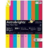Neenah Astrobrights Premium Color Paper Assortment, 24 lb, 8.5 x 11 Inches, 200 Sheets, Charisma