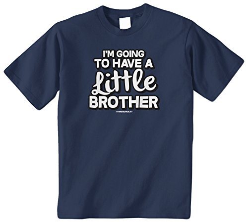 Threadrock Big Boys' I'M Going To Have A Little Brother Youth T-Shirt S Navy front-227150