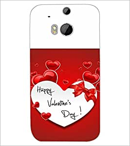 HTC ONE M8 S HAPPY VALENTINES DAY Designer Back Cover Case By PRINTSWAG