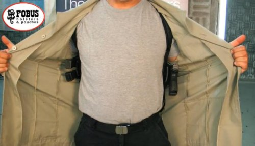 Walther P22 P-22 Fobus Dual Double Under Shoulder Holster Horizontal/Vertical Hidden Harness Strap whalter + Mag/Magazine Holster from Fobus