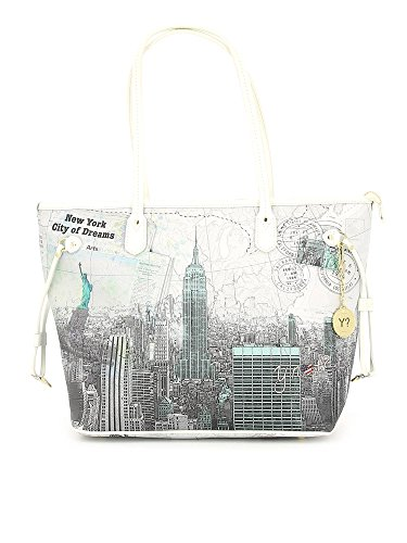 Borsa donna Shopping grande Y Not stampa New York City of Dreams - Serie Yes Bag Instant - F319