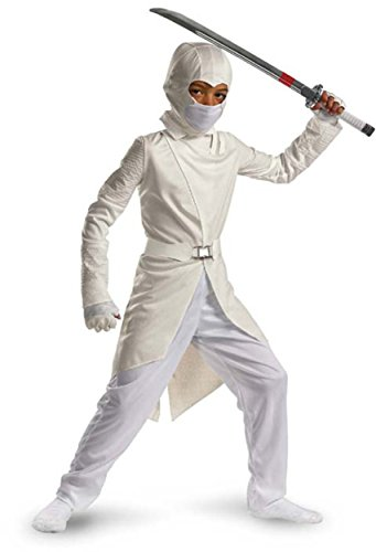 Storm Shadow Deluxe - Size: Child L(10-12) (Gi Joe White Ninja compare prices)