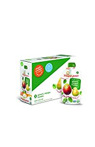 Happy Baby Organic Baby Food 2 Simple Combos, Spinach Mango & Pear, 4 Ounce (Pack of 16)