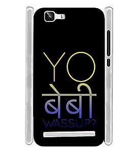 Yo Baby Wassup Hindi Hinglish Soft Silicon Rubberized Back Case Cover for Vivo X5 Max