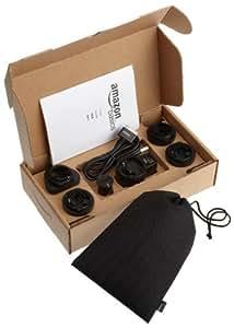 AmazonBasics - Kit adaptador de viaje para iPod, iPhone 3G, 3GS y 4, color negro