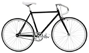 Critical Cycles Classic Fixed-Gear Single-Speed Bike with Pista Drop Bars, Black, 43cm/X-Small