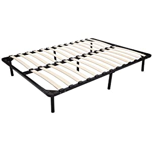 Homcom Full Size Mattress Wood Slat Platform