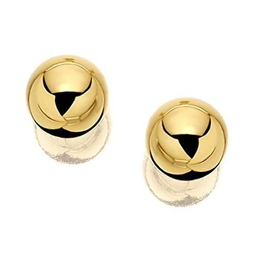 F.Hinds Womens Jewellery Jewelry Genuine 9ct Yellow Gold Gold Ball Stud Earrings - 4mm Fashion Unique Ladies Gift...