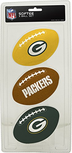 NFL Green Bay Packers Kids Softee Football (Set of 3), Small, Green (Child Football compare prices)