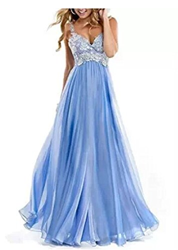 Vickyben Evening Dresses Long Chiffon Lace Appliques (14